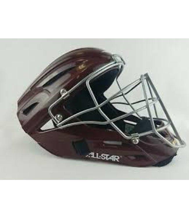 All Star ALl-Star MVP2500 Maroon catcher helmet solid