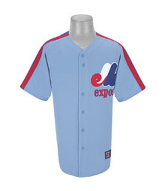 Majestic Majestic Montreal Expos blank Replica Columbia Blue jersey adult