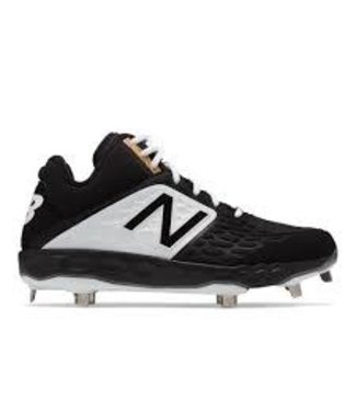 New Balance Athletic New Balance M3000 version 4 Metal Mid-cut - metal cleat BK4 black and white