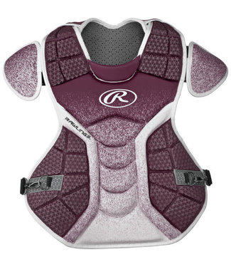 Rawlings Rawlings Velo adult chest protector maroon and white CPVEL-MA/W