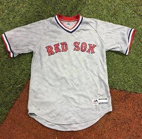 Majestic Majestic Red Sox team grey V Neck