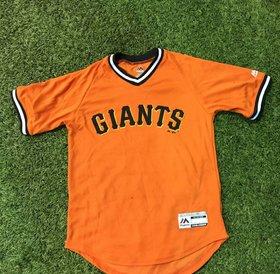 Majestic Majestic Giants team orange V Neck