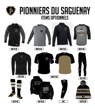 Pionniers du Saguenay Lac St-Jean  - items optionnels