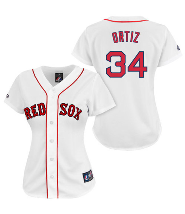 Majestic Majestic Red Sox white Replica Jersey David Ortiz
