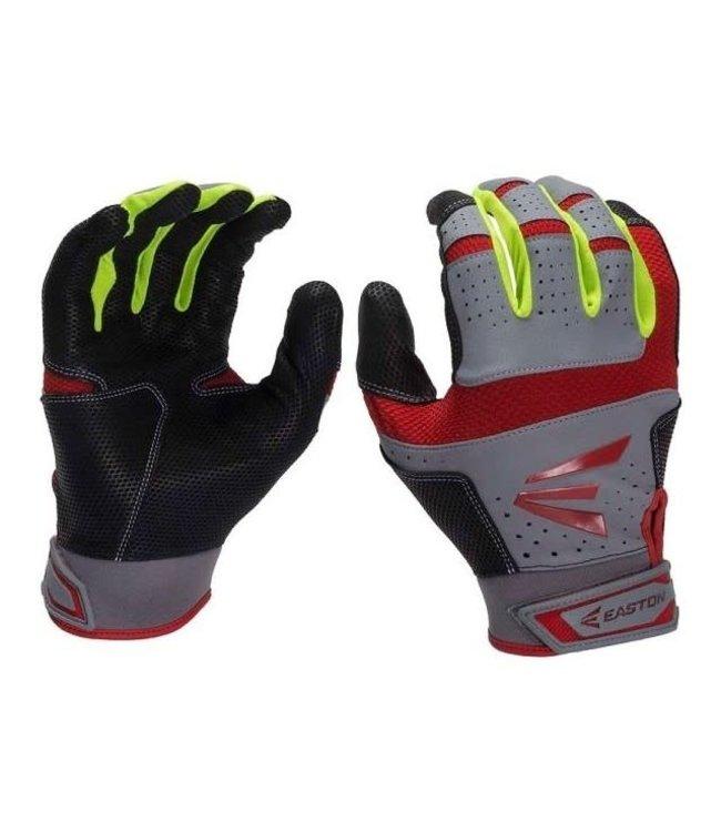 Easton Easton HS9 Batting Gloves Red Neon