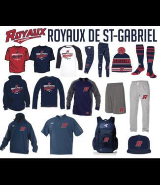On Field Short OF Team gris avec poches et logo de Royaux en sérigraphie - OFS-RO-GY