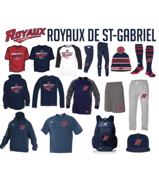 Rawlings Rawlings manteau Launch cage jacket bleu marine avec logo Royaux en broderie - RWL-RO-NY