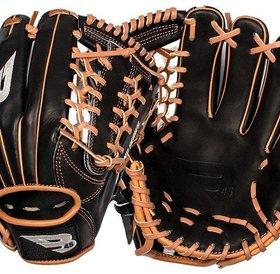 B45 B45 Diamond Series Fielding Glove Black/Brown RHP 11.75''