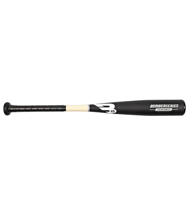 B45 B45 Bomber Series Aluminum Tee-Ball Bat Matte Black Wood Edition