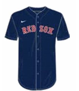 Nike Nike MLB Team navy full button  Jersey Boston Red Sox