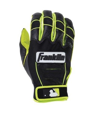 Franklin Franklin CFX Pro Revolt Batting Gloves Black/Black/Lime