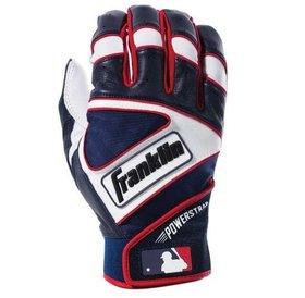 Franklin Franklin The Powerstrap Batting Gloves Red/White/Blue