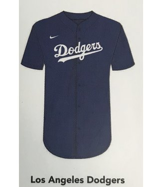 Nike Nike MLB Team blue full button  Jersey Los Angeles Dodgers