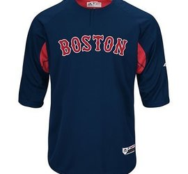 1af81924f Majestic Majestic On-field 3 4 sleeve BP trainer Red Sox - Baseball  Warehouse