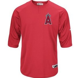 Majestic Majestic On-field 3/4 sleeve BP trainer Angels