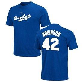 Majestic Majestic Jackie Robinson 42 Brooklyn Dodgers t-shirt