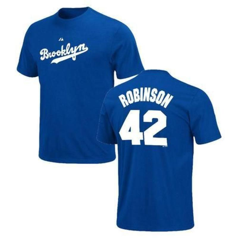 promo code 675c6 177ff Majestic Jackie Robinson 42 Brooklyn Dodgers t-shirt