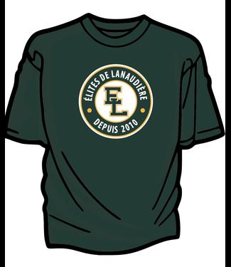 Authentic t-shirt company Elites de Lanaudiere t-shirt dry-fit vert pour entraineurs avec logo Elites