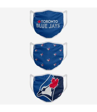 Foco Foco MLB On Field Adjustable Pleated sport face cover Blue Jays