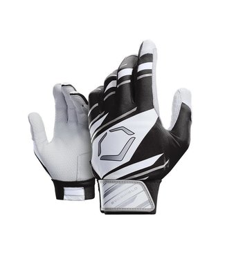 EvoShield EvoShield Youth Batting Gloves Black/White/Grey