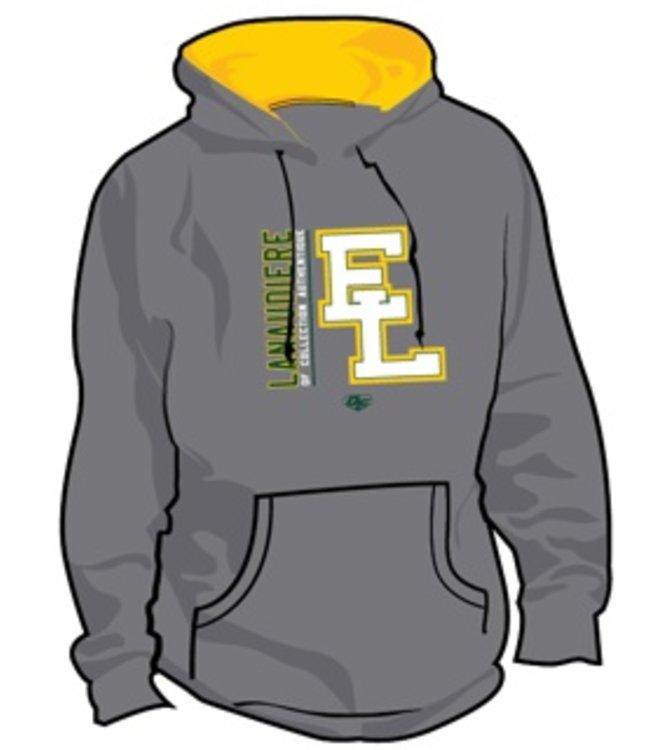 Authentic t-shirt company Elites de Lanaudiere kangourous gris et vert avec logo Elites