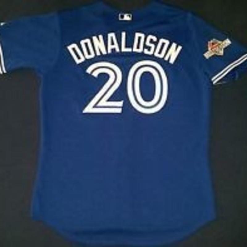 quality design 05dae 5a280 Majestic Toronto Blue Jays replica jersey Josh Donaldson - Post season patch