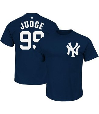 Majestic Majestic player name and number navy t-shirt Aaron Judge