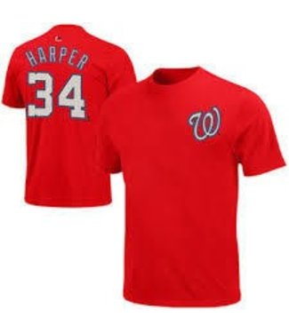 Majestic Majestic player name and number athletic red t-shirt B.Harper