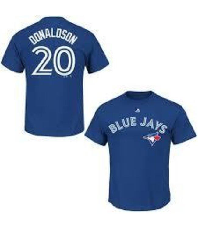 Majestic Majestic player name and number deep royal t-shirt Josh Donaldson
