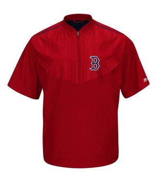 Majestic Majestic Red Sox Training Jacket Short Sleeve