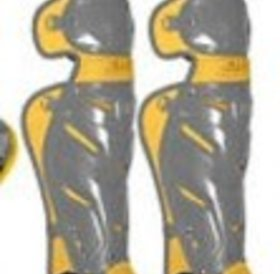 All Star All-Star System 7 Elite Travel Team leg guard Graphite-Gold 12-16