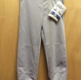 Louisville Slugger LS Pull-Up grey youth baseball Pant W/BELT loops x-small