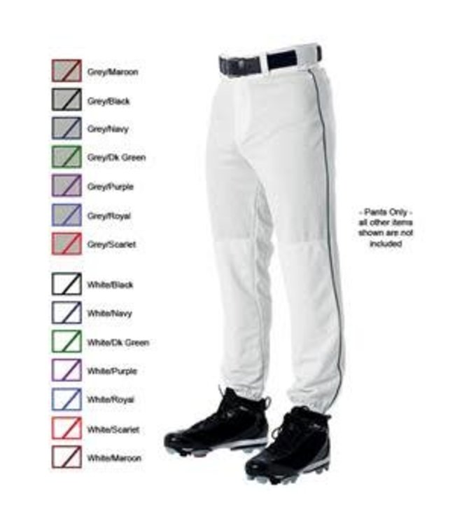 Alleson Alleson pant 3/4 Adult Grey with piping