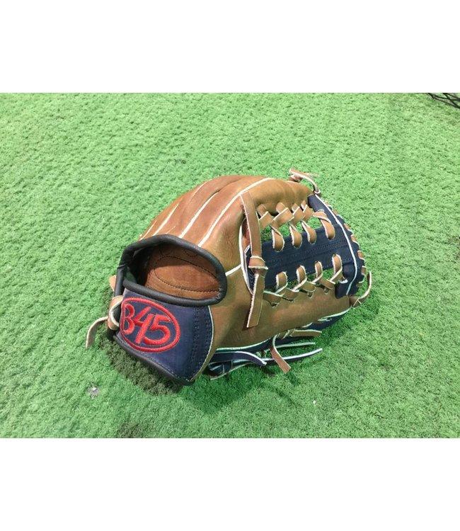 B45 B45 Baseball Glove Youth 11'' Leather Brown/Navy