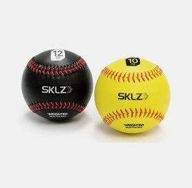 SKLZ SKLZ weighted baseballs 2pk - yellow 10oz - black 12oz
