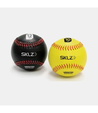SKLZ SKLZ weighted baseballs 2pk - yellow 10oz - black 12oz