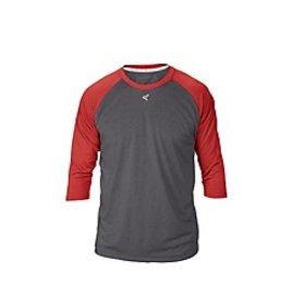 Easton EASTON RAGLAN CREW NECK ADULT Charcoal/Red