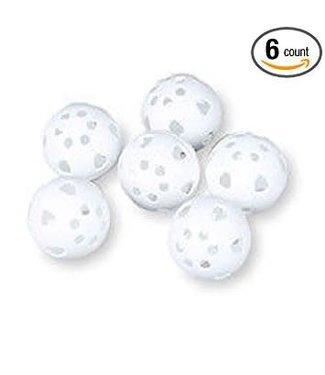 Sideline Sports Sidelines golf ball size practice plastic balls white - 6 balls