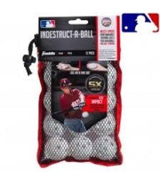 "Franklin Franklin MLB® 5"" Indestruct-A-Balls Micro Baseball-White"