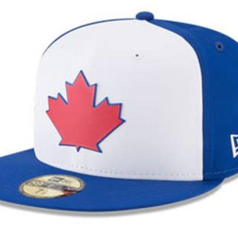 low priced a9356 db577 New Era New Era Men s Toronto Blue Jays White 2018 BP Prolight 59FIFTY  Fitted Hat