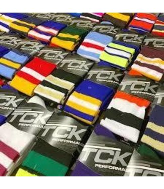 TCK performance royal and white sock