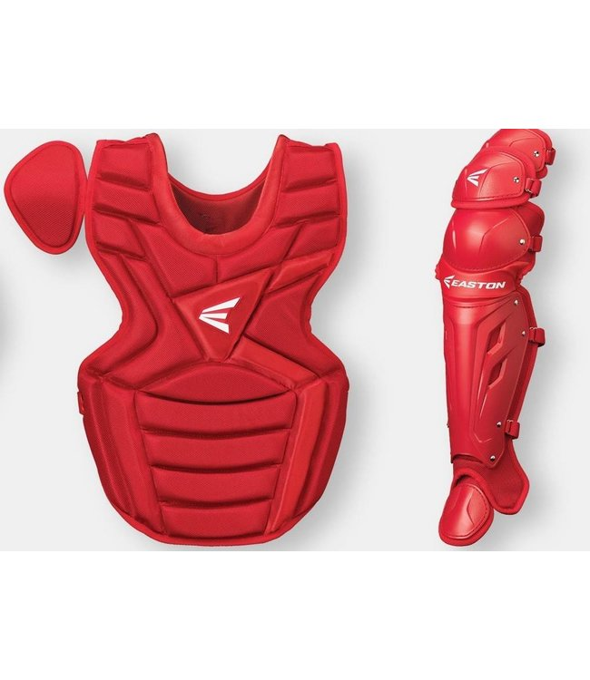 Easton Easton M7 series leg guard and chest protector set youth (9-12) red