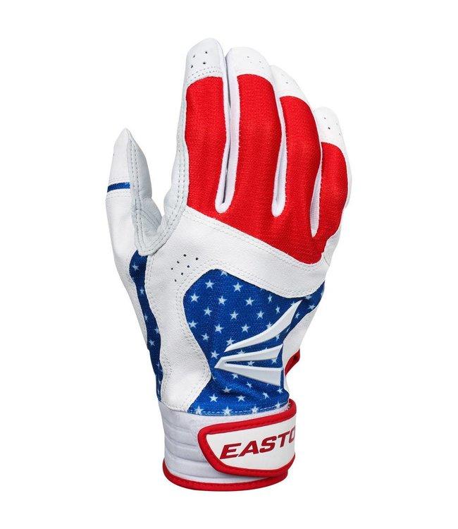 Easton Easton HS9 Batting Gloves Stars and Stripes