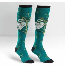 Sock it to Me Swan Womens Knee High Socks
