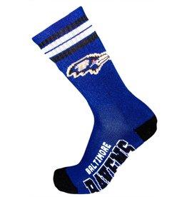 For Bare Feet Mens NFL Baltimore Ravens Team Socks  w/Stripes LG