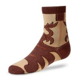 For Bare Feet Childrens Real Western Boot Sock 3/$24