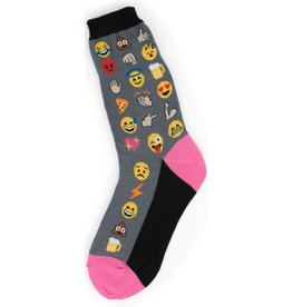 Foot Traffic Womens Emoji Socks