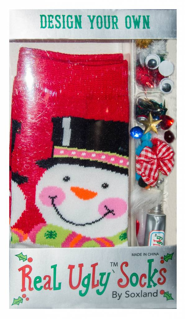 Davco Women's Design Your Own Ugly Giant Snowman Socks