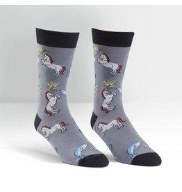Sock it to Me SITM Men's Unicorn vs. Narwhal Socks