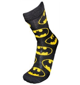 DC Mens Batman All Over Logo Crew Socks